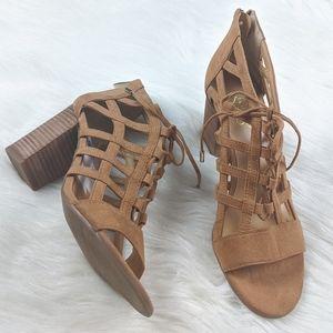 NWOB Franco Sarto Cage Peep Toe Heels Size 8.5